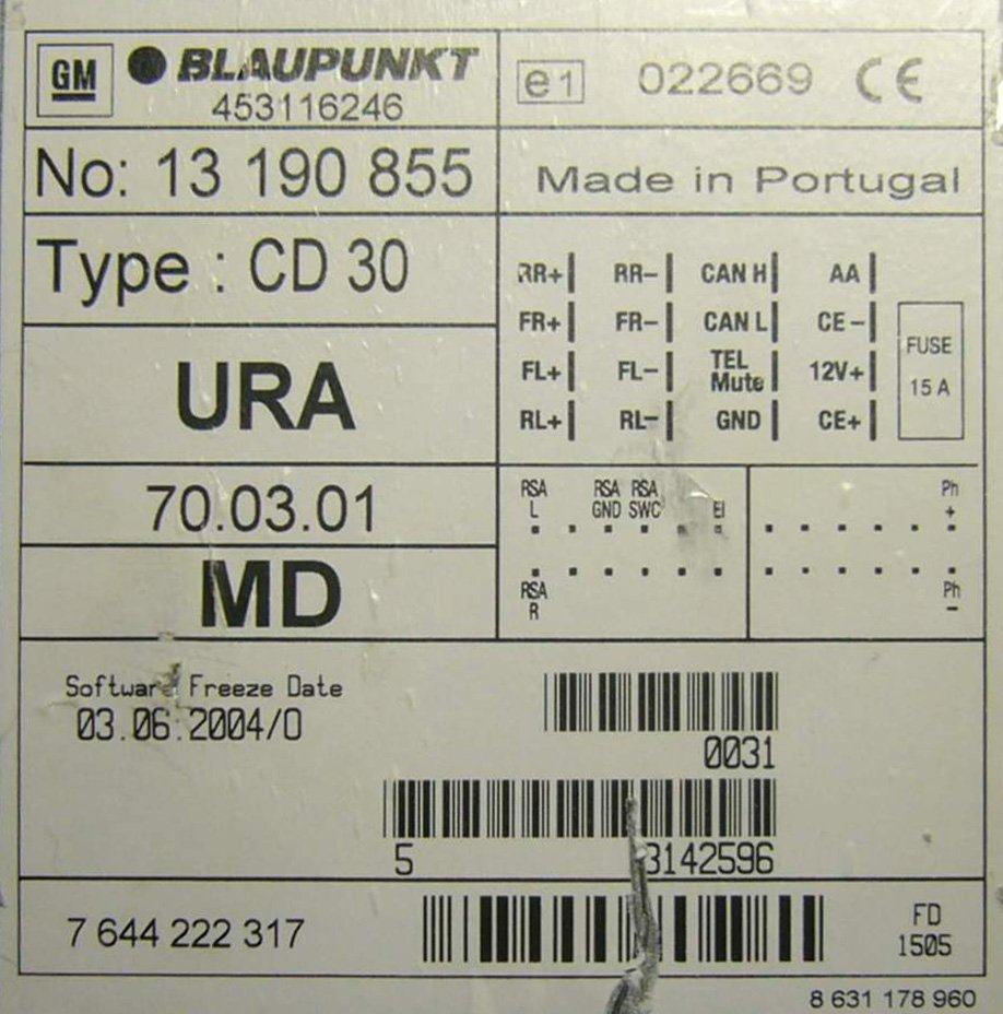 pinout_1131638959_1293502196_1 opel cd30 head unit pinout diagram @ pinoutguide com cd30 mp3 wiring diagram at gsmx.co