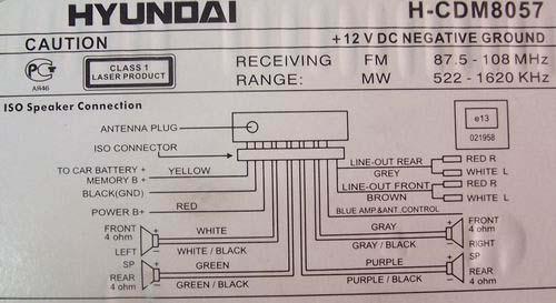 hyundai h cdm8057 pinout diagram   pinoutguide com