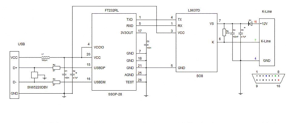 Схема автомобильного адаптера с usb