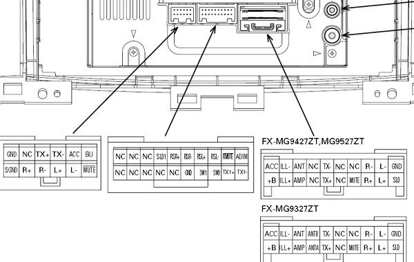 toyota fx-mg9427zt, fx-mg9527zt, fx-mg9327zt head units ... toyota stereo wiring harness