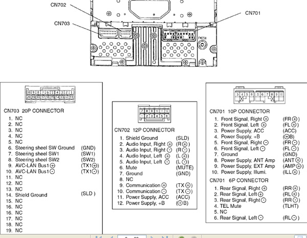 toyota w53905 head unit pinout diagram   pinoutguide com