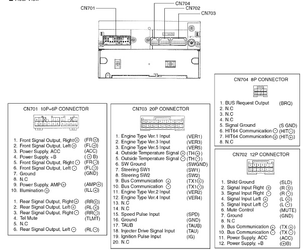 Toyota W58814 Head Unit Pinout Diagram   Pinoutguide Com