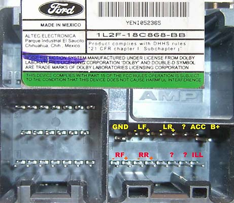 ford lf  bb pinout diagram  pinoutguidecom