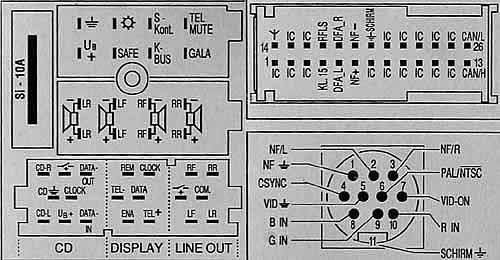 Ford Radio Navigation System Bp1422 Pinout Diagram