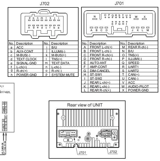 Mazda PT 2674J pinout on clarion car radio wiring diagram