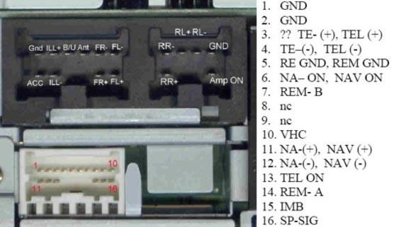 схема подключения магнитолы nissan pp-2609h