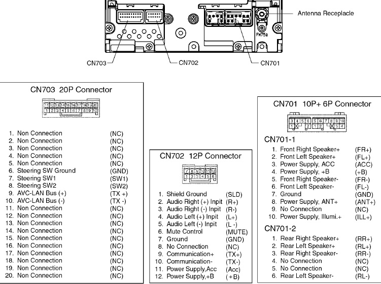 toyota 86120 yy wiring diagram 86120 yy210 wiring diagram toyota toyota 53810 (86120-47120) head unit распиновка и описание ...