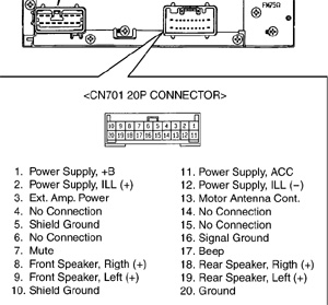 Toyota A56811    Head       Unit    pinout    diagram      pinoutguide