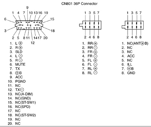 toyota w53811 head unit pinout diagram @ pinoutguide.com toyota audio wiring diagram
