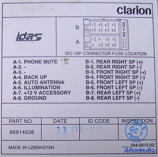 pinout_2103403384_1302756433_clarion leyba clarion wiring diagram dolgular com clarion vrx755vd wiring diagram at panicattacktreatment.co