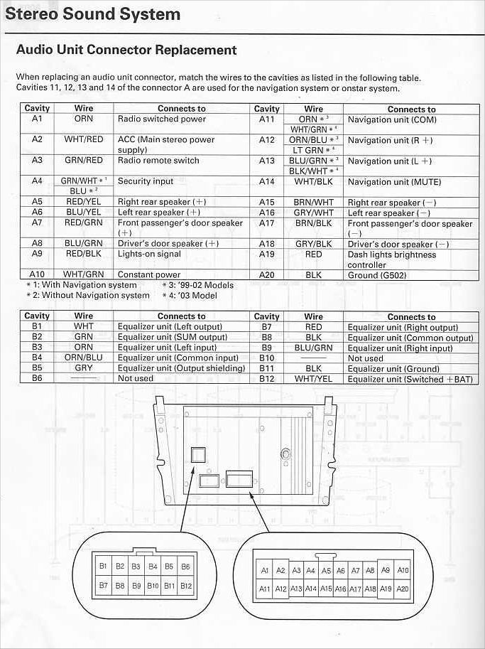 Acura 2002 Tl Head Unit Pinout Diagram   Pinoutguide Com