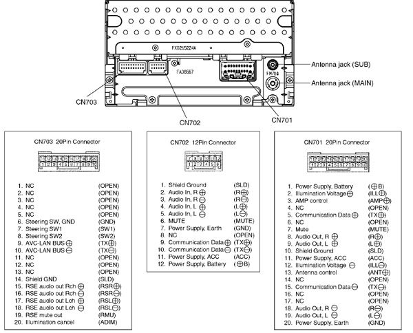 Toyota A56828 Head Unit Pinout Diagram   Pinoutguide Com