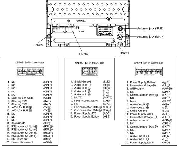 toyota corolla head unit wiring diagram toyota a56828 head unit распиновка и описание @ pinouts.ru