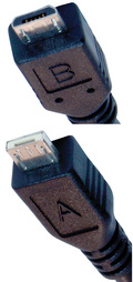 5 pin Micro USB A, Micro USB B plug photo