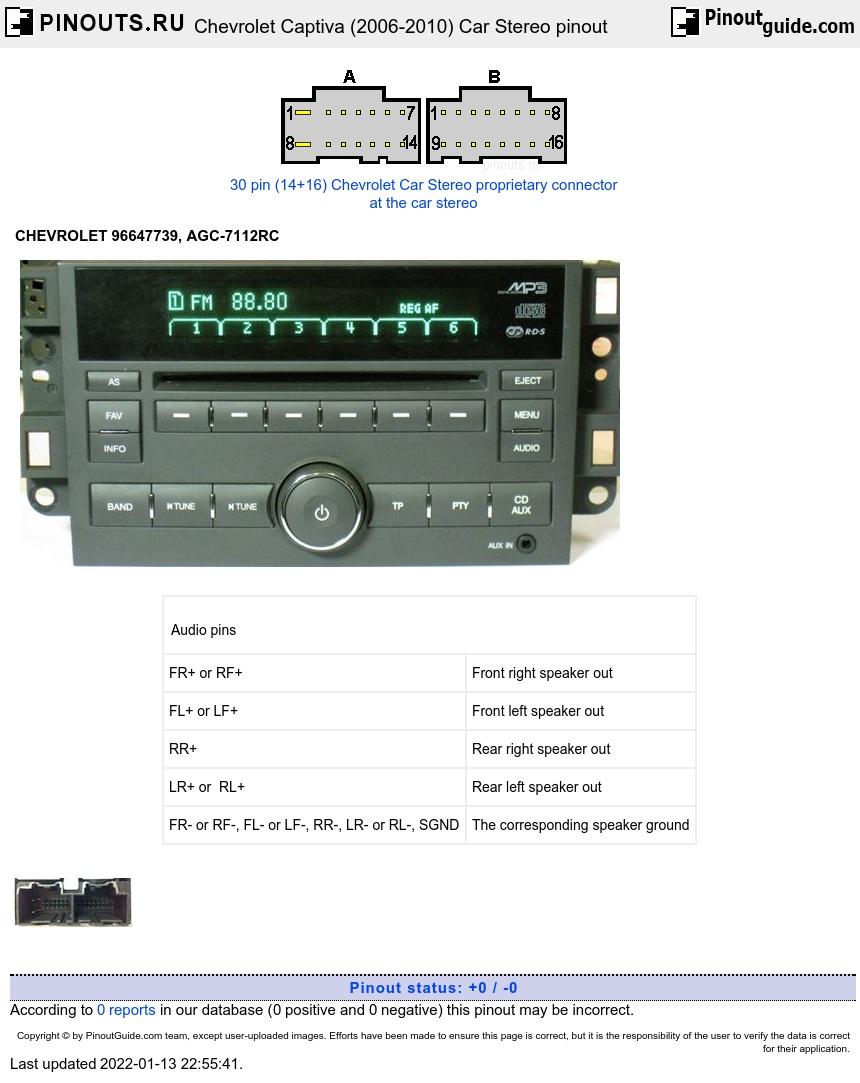 Chevrolet Captiva   Pinouts Ru