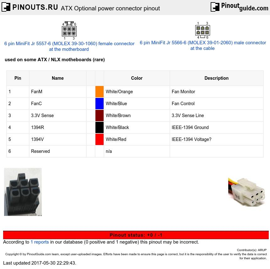 atx optional power connector pinout diagram. Black Bedroom Furniture Sets. Home Design Ideas