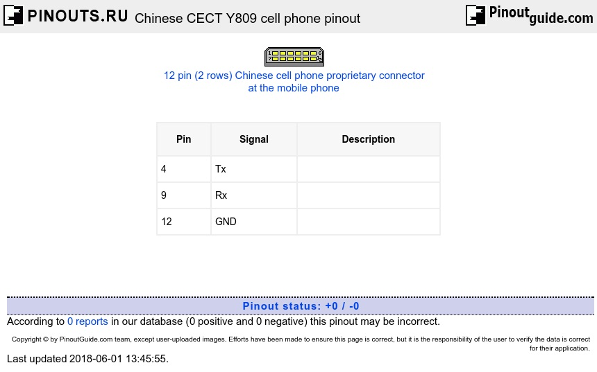 Chinese CECT Y809 cell phone diagram