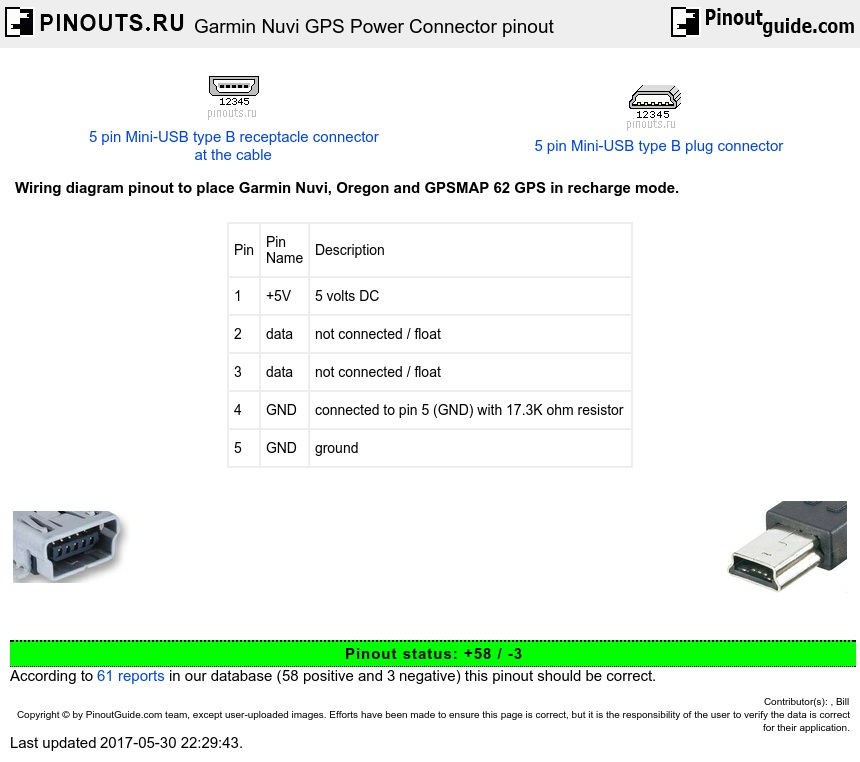 Garmin Nuvi Gps Power Connector Pinout Diagram