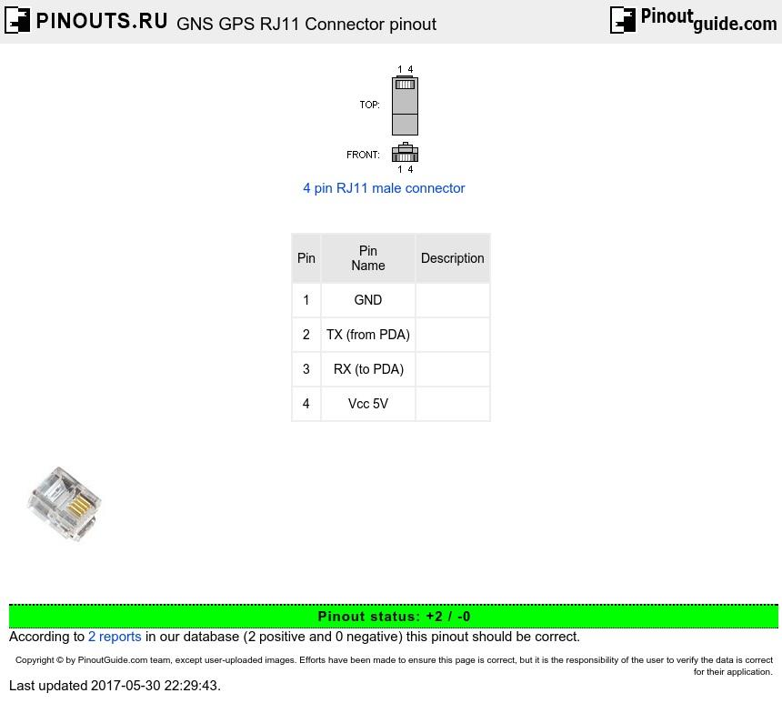 Gns Gps Rj11 Connector Pinout Diagram   Pinouts Ru