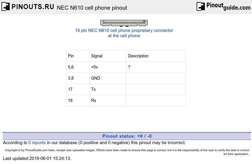 NEC N610 cell phone diagram
