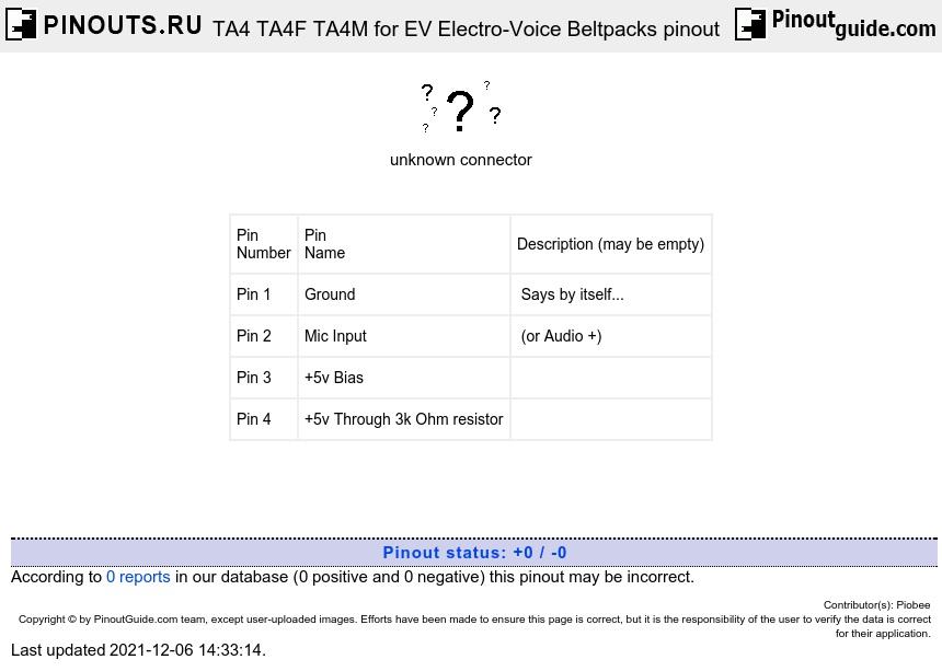 ta4_beltpacks ta4 ta4f ta4m for ev electro voice beltpacks pinout diagram ta3 wiring diagram at gsmx.co